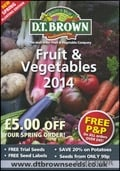 D.T. Brown Fruit & Vegetables brochure cover from 19 March, 2014