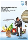 Open University Prospectus brochure cover from 28 August, 2012