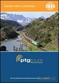 PTG Tours - Rail and Culture brochure cover from 07 January, 2014