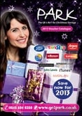 Park Christmas Savings 2013 Voucher brochure cover from 24 September, 2012