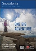Snowdonia Mountains & Coast One Big Adventure Guide brochure cover from 16 July, 2015