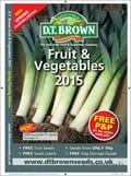 D.T. Brown Fruit & Vegetables brochure cover from 06 January, 2015