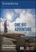 Snowdonia Mountains & Coast One Big Adventure Guide brochure cover from 03 July, 2014
